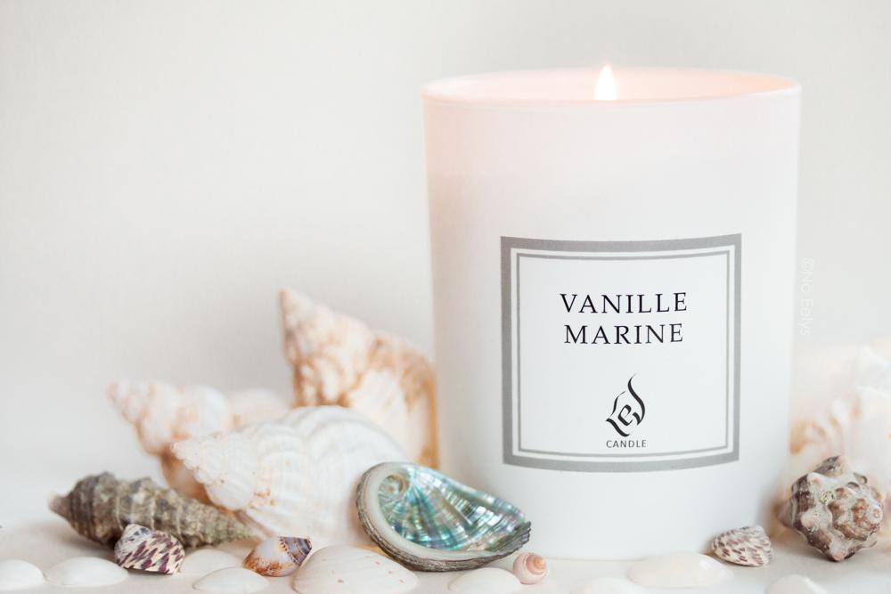 Packshot photo bougie Lev Candle Vanille Marine