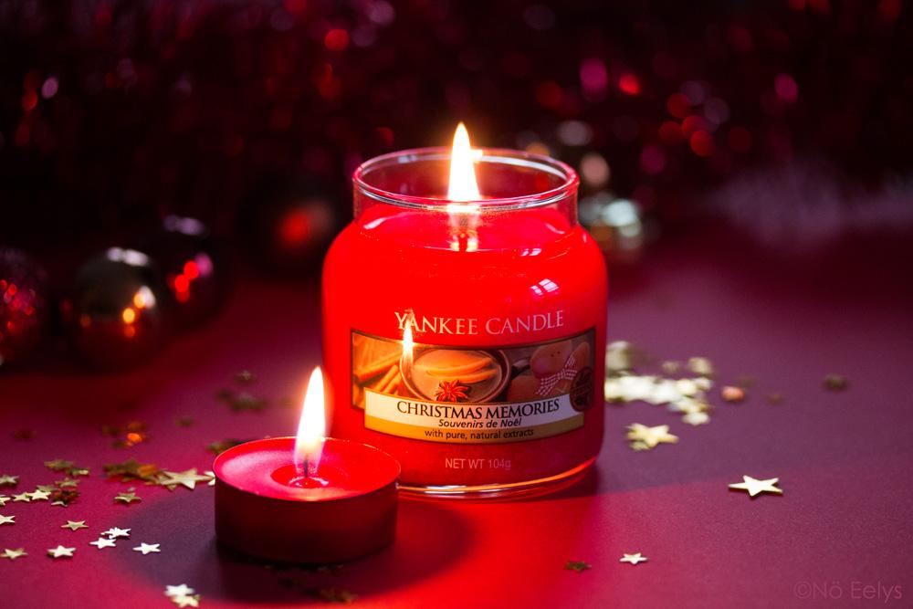Packshot bougie Yankee candle Christmas Memories