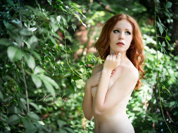 Nu artistique par Nö Eelys Photo, nature, modèle alternative rousse, nymphe des bois